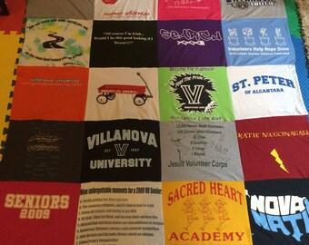 Custom Made T-shirt Blanket (20 shirts)