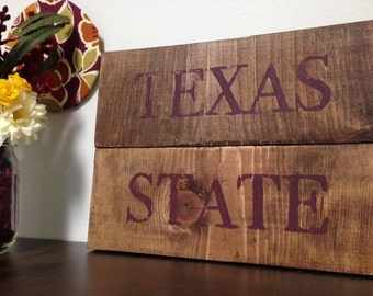 Texas State Wooden Decor