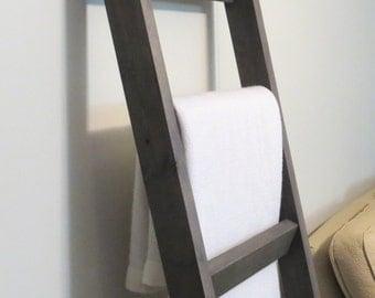6 ft Blanket Ladder, Blanket Ladder, Rustic Wood Ladder, 72 x 20, blanket ladder decor, wood blanket ladder, Rustic Warm Home Decor