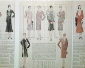 1928-1930 Woman's world pattern illustrations