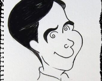 Black and White Custom Comic Portrait