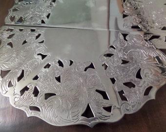 Silverplate Trivet Expandable Silver Plate Trivet marked Leonard