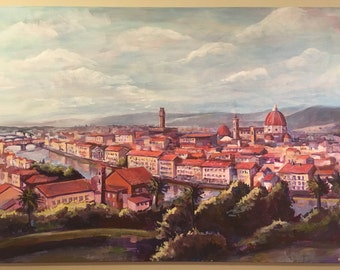 Florence Skyline Painting