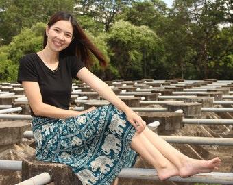 Thai Skirt /Harem Skirt /Hippie Skirt /Boho Skirt /Bohemian Skirt /Gypsy Skirt /Charming Skirt /Elephant Skirt
