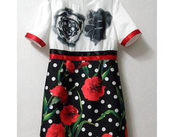 Rose Polka Dot Dress