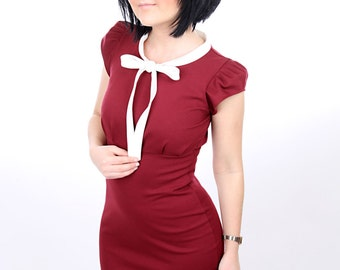 "Lee ""Schlefy"" dress Marsala ladies short sleeve"