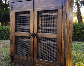 Custom Rustic Oil Cabinet