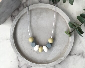 Wild Sage Teething Silicone Bead Necklace