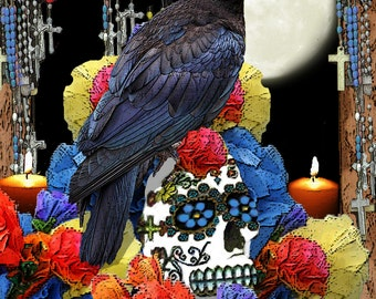 Day of the Dead Raven