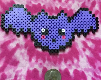 Purple Bat Perler