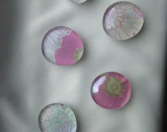 Abstract Daisy Glass Magnet
