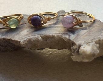 Custom stone/size bead rings