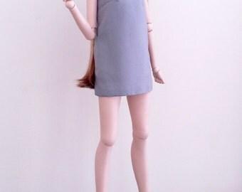 Grey Bow Shift Dress for SD 1/3 BJD, Smart Doll & Dollfie Dream