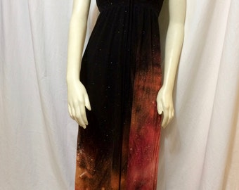 Women's Strapless Dress, Galaxy Dress, Extra Small