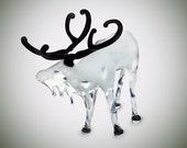 Glass Animals - Glass Figurines - Miniature Figurines - Art Glass - Hand Blown Glass - Glass Reindeer - Miniature Glass Animals - Art Glass