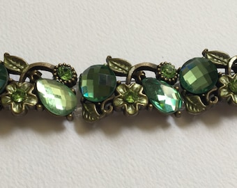 Two Strand Green Accent Bracelet