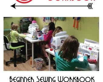 Learn to sew, beginner sewing ,easy sewing ,workbook ,sewing school ,book