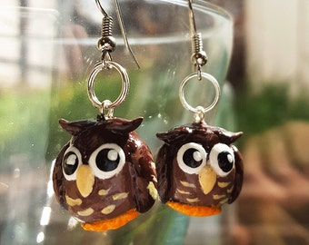 Polymer Owl Earrings