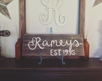 Customizable family signs