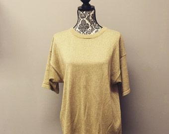Vintage Gold Short Sleeve Sweater