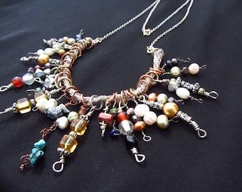 Multicolored Beaded Bib Necklace