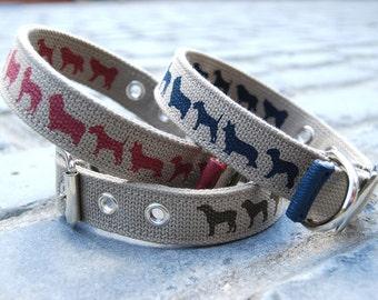 Hand Made Dog  Collar - Blue - S/M/L