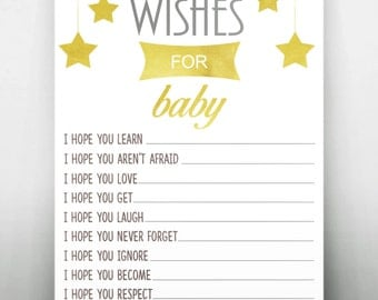 Gold Star Wishes For Baby