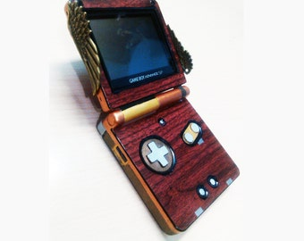 Game Boy Advance SP Steampunk Custom personalized Gameboy