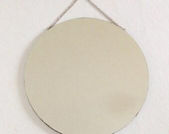Large round hanging mirror