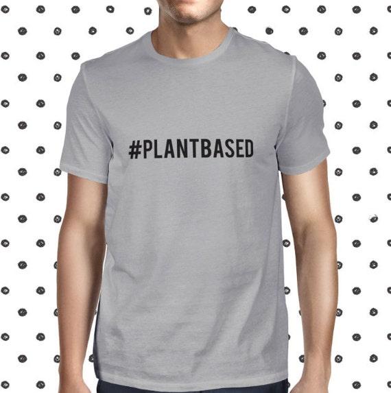 Vegan Shirt for Men - Plant Based Men's T-shirt - Male Vegetarian Tee - Plants are Friends Shirt - Plant-based Vegan Tee - Cheap Vegan Tee