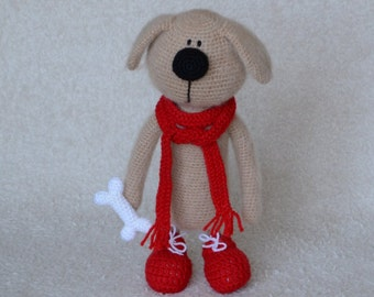 Crochet toy, Toy Dog, Interior toy, Crochet Dog, Amigurumi Dog, Stuffed Dog, Decoration toy, Amigurumi animals, Crochet animals, Knitted toy