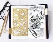 Planner Stencil, Bullet Journal Stencil, Nature, Flowers Stencil - fits A5 journal & Midori Regular