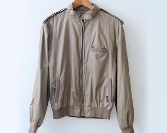 Vintage Tan Bomber Jacket