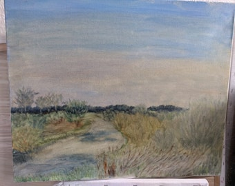 landscape northern germany europe decoration hand-made oil painting