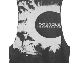 The Sky's Gone Out - Bauhaus open-side raw edge tank top