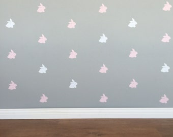 Bunny Wall Decals - Removable vinyl wall decals/stickers