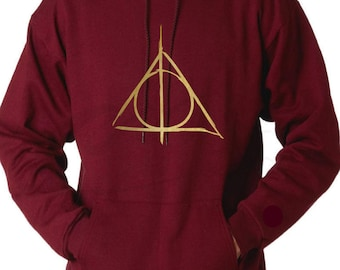 Harry Potter Deathly Hallows Hoodie, Harry potter Triangle Symbol Hoodie, Harry Potter resurrection Stone.