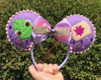 Rapunzel Inspired MIckey Ears