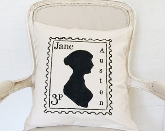 Jane Austen Pillow Cover