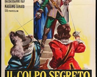 "Secret Mark of Dartagnan (1962) Vintage Italian One-Panel Poster - 39"" x 55"""