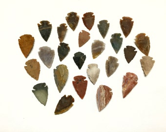 Lot of 25 Agate Arrowheads - Bulk Arrowheads - Great for Crafts, Jewelry Making