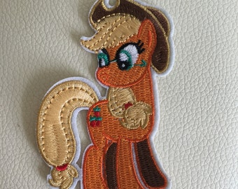 MY LITTLE PONY apple jack sew/iron on embroidered patch