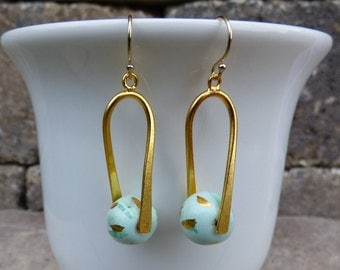 Gold Dangle Earrings (Two Color Options)