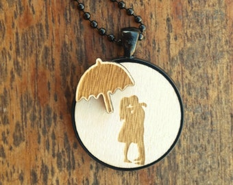 Lovers in the rain necklace