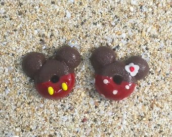 Mickey & Minnie Donut Charms