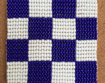 Nautical Flags Beaded Coasters - Quantity 1-3