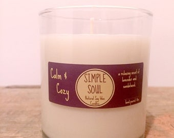 Natural Soy Wax Candle: Calm & Cozy