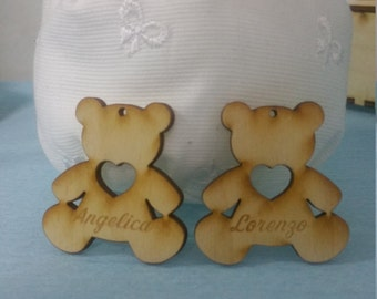 Custom Teddy bear pendant as a wedding favor