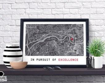 Sunderland Football Poster, Football Poster, Football Print, gift, Map Print