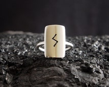 EIRIK unique handmade sterling silver ring  Viking rune jewellery jewelry simple large bold symbolic statement fashion personalised rad gift